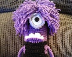 SALE Evil Minion inspired Crochet amigurumi doll toy key by Chieu
