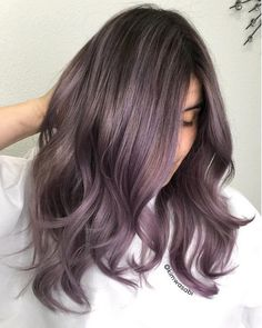 Dusty Lavender - Metallic Hair Shades With Just the Right Amount of Edge For Fall - Photos