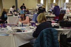 Busy, busy! Lots of crafting going on!