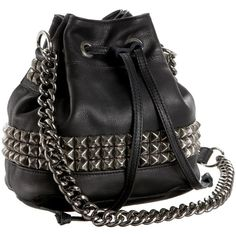 Tylie Malibu Runaway Jade Drawstring Cross Body Bag ($207) ❤ liked on Polyvore featuring bags, handbags, shoulder bags, purses, accessories, bolsas, women, studded crossbody, handbags purses and handbags crossbody
