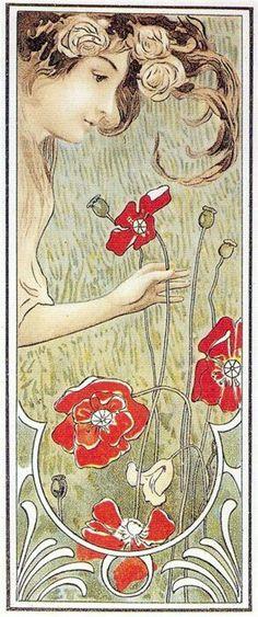 Art nouveau postcard 1900
