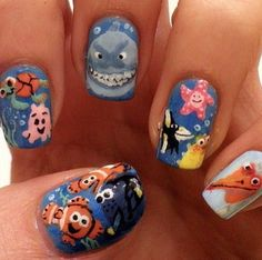 Finding Nemo nails!!!!!