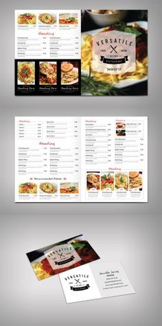 Modern Restaurant Menu Template (Versatile) » Free Special GFX Posts  Vectors AEP Projects PSD
