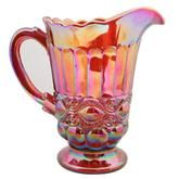 Love this carnival glass-style pitcher.