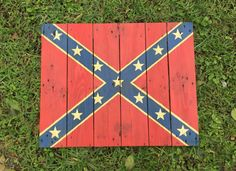 Confederate FlagFlagRebel FlagWood FlagWood by OurBurntOfferings