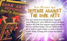 I would totally ace Defense Against the Dark Arts if I went to Hogwarts! What about you? #ZimbioQuiznull - Quiz