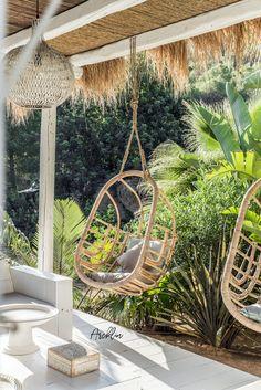 PURE HOUSE IBIZA is a fantastic boutique and lifestyle hotel beyond which . Ibiza in . Patio Bohemio, Ibiza Style Interior, Interior Design, Summer Garden, Home And Garden, Ibiza Island, Hotel Ibiza, Outdoor Rooms, Outdoor Decor