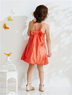 Vestido de cerimónia modelo balão, para menina