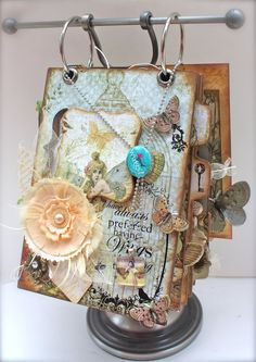 With A Grin: Gypsy Chick Mini Album (BlueMoon DT Project) Using Pink Paislee's Butterfly garden collection