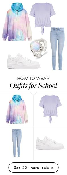 """""""pastel"""" by nightfury-100 on Polyvore featuring Boohoo, Hollister Co. and NIKE"""