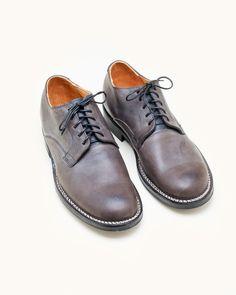 Viberg Derby Shoe in Dust Black