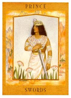 The Goddess Tarot Deck: Knight of Swords