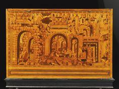 В Южной Германии амарант, ясень, ТиС, элмвуд, грецкий орех, фруктовые деревья витражи, мозаичные и паркетные доски шкафа, Аугсбург третьей четверти 16 века | путешествия | Сотбис