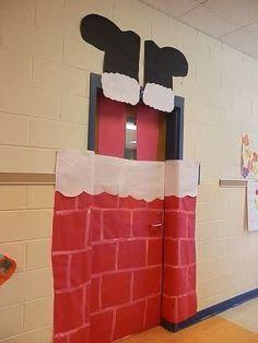 Puerta de Papá  Noel por fuera