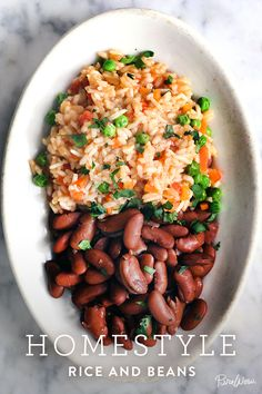 Homestyle Rice and Beans. Diversify your side dishes this Thanksgiving with a little rice and beans.