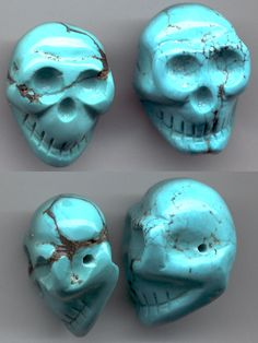 pictures of turquoise items | Blue Turquoise Skull Beads
