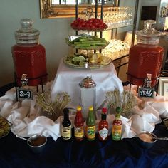 Want a bloody mary bar at your wedding? Let us know! #theterraceclub #weddingvenue