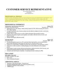 Resume Profile Resume Profile Resume Profile Examples