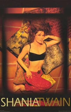 A great poster of Shania Twain - the Queen of Country Pop! The best-selling female artist in country music! Published in 1998. Fully licensed. Ships fast. 23x34 inches. Scoot yer boots on over and che