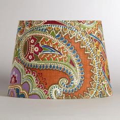 The lampshade that I will design the room around.  Fo' sho'.  I love this thing, and all the colors in it!
