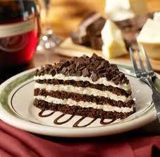 Chocolate Lazagna, Olive Garden.   A genuine favorite.