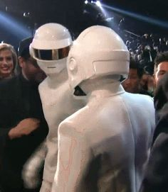 Daft Punk wins Album of the Year #Grammys2014 #robots #electronica