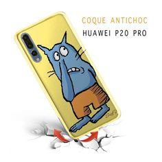 Chat Bleu, Coque Huawei P20 Pro en Silicone - S. Herout - Kinghousse b485bd12a89