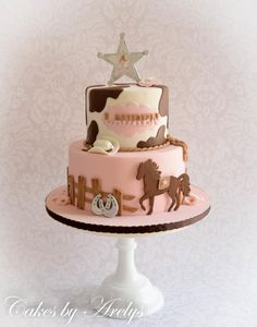 Inspired Image of Cowgirl Birthday Cake . Cowgirl Birthday Cake Cowgirl Birthday Cake With Fondant Sheriff Star Horse And Horseshoe Western Birthday Cakes, Horse Birthday Parties, Birthday Cake Girls, 3rd Birthday, Horse Birthday Cakes, Birthday Wishes, Birthday Ideas, Birthday Cupcakes, Cowgirl Cakes