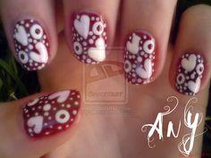 Hearts Nail Design 2 by AnyRainbow.deviantart.com on @deviantART