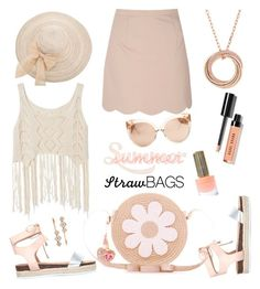 """""""Summer Trend: Straw Bags"""" by rasa-j ❤ liked on Polyvore featuring Miss KG, Floss Gloss, Bobbi Brown Cosmetics, Glamorous, Accessorize, Linda Farrow, Cartier and Henri Bendel"""