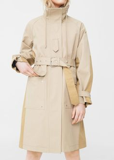 Two-colored belt parka - Women Parka, Fashion Drawing Dresses, Mango France, Cool Outfits, Fashion Outfits, Best Wear, Duster Jacket, Outdoor Outfit, Coats For Women