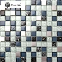 TST Glass Metal Tile Blue Steel Inner Crackle Chips Bath Kitchen Remodeling Decor.  http://www.tstmosaictiles.com/index.php?route=product/product&product_id=210&search=TSTMGB030