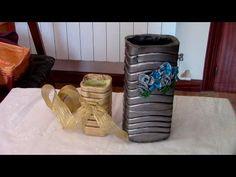 JARRON FLORERO DECORATIVO DE YESO - PLASTER DECORATIVE FLOWERPOT - YouTube
