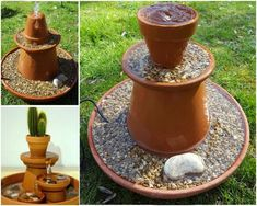 Solar Water Cascade With Pots