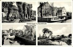 Ansichtskarte / Postkarte Estebrügge Jork im Kreis Stade, Salondampfer, Geschäft, Ortschaft | akpool.de