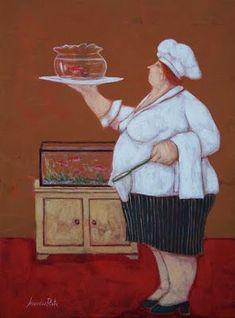 Naive, Plus Size Art, Fat Art, Lucca, Baba Yaga, Woman Illustration, Le Chef, Plus Size Beauty, Fat Women