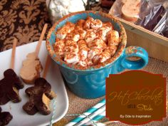 Gingerbread Hot Chocolate on a Stick. So good that you can just eat it right off the stick!