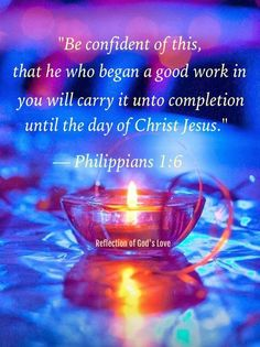PHILIPPIANS 1:6 Learn Spanish  http://learnspanishthroughbible.blogspot.com  Try it, practice it and spread the Word of God.
