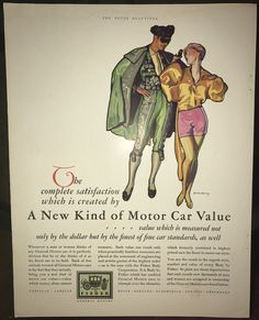 "1929 General Motors ad - Body by Fisher - ""New Kind of Motor Car Value"""