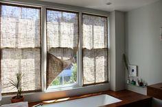 The Shingled House: Burlap Window Shades