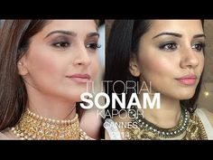Tutorial | Sonam Kapoor Cannes Film Fesitval 2014 Make-up Look | Kaushal Beauty - YouTube