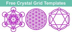 Simple Crystal Grid for Healing with Free Crystal Grid Template - Ethan Lazzerini Crystal Guide, Crystal Magic, Crystal Healing, Crystals And Gemstones, Stones And Crystals, Wiccan Spell Book, Free Stencils, Templates Printable Free, Print Templates