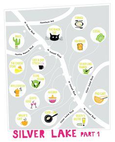 Silverlake food guide by @bri emery / designlovefest #LAeveryday