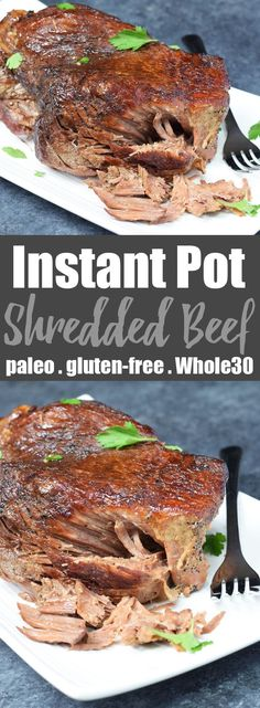 Instant Pot Shredded Beef from Living Loving Paleo | The EASIEST most tender shredded beef ever! | paleo, gluten-free, Whole30 and 21dsd | an exclusive Invincible Inspiration members recipe