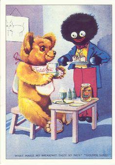 Vintage Goliwog postcard,