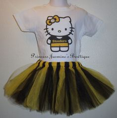 Hello Kitty Pittsburgh Steelers Shirt & Tutu Set by JasminesBowz, $30.00
