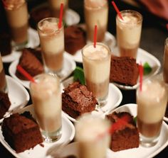 #adorbs - Tiny Brownies & Milkshake Shots, Style Me Pretty