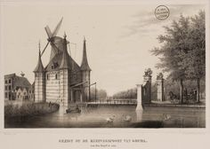 Gezigt op de Kleiwegspoort van Gouda van den Singel te zien. - Geheugen van Nederland