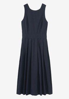 Poplin Cross Back Dress   TOAST