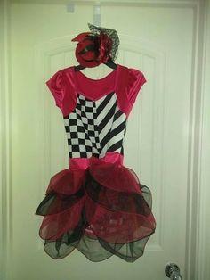 NWOT Rasberry tap dance costume Girls small child sz 4-6 velvet skirt sparkles